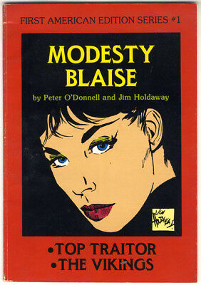 Modesty Blaise First American #1, Top Traitor. Peter O'Donnell, Jim Holdaway