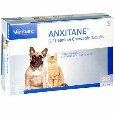 Anxitane 30 Chewable Tablets For Small Dogs Cats < 10.1kg Anxiety Stress Relief