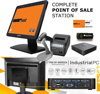 3nStar Complete Point of Sale Station Touchscreen With Retail Maid Windows10