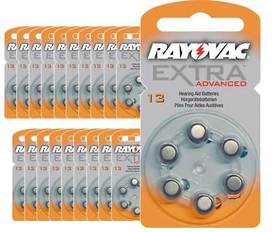 120 piles auditives Rayovac 13 Extra advanced / pile auditive PR48 / piles pour