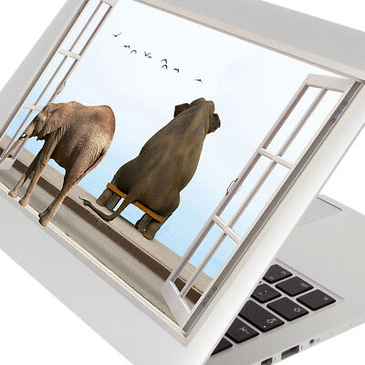 Wall Stickers Elephant Bench Birds View Cool Laptop Girls Boys Living Door F708