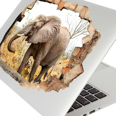 Wall Stickers Elephant Animal Savannah Cool Laptop Girls Boys Living Door G291