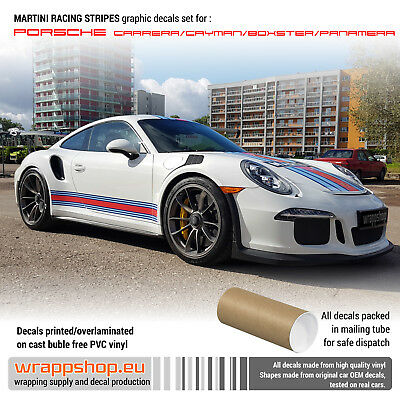 Martini Racing stripes Full Set for Porsche Carrera / Cayman / Boxster