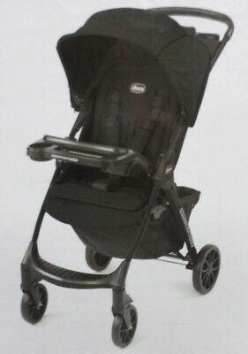 Chicco Quick Fold Stroller Mini Bravo Plus Lightweight Front Facing Iron Black