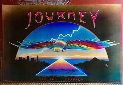 Sweet Original1980 Journey Oakland Day On The Green Concert Poster Signed Mouse!
