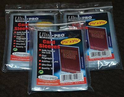 300 Ultra Pro Series Pochettes 3 Paquets de Protections Taies de Protection Neuf