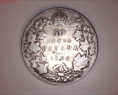 CANADA 1906 & 1964 50 Cents (2 Total)
