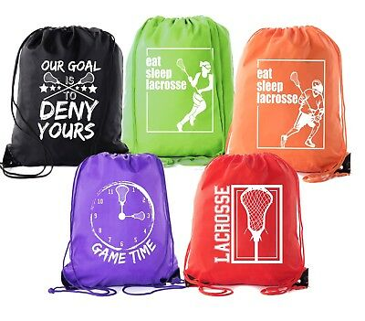 Mato & Hash Party Favor Lacrosse bags | Lacrosse drawstring Backpacks for events