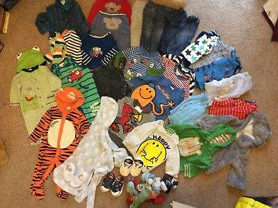 BABY BOYS Autumn/winter CLOTHES BUNDLE Trousers, Tops - SIZE 3-6 MONTHS