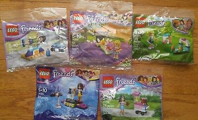 LEGO Friends Variety LOT OF FIVE SETS Party favors Stocking stuffers, SEALED!