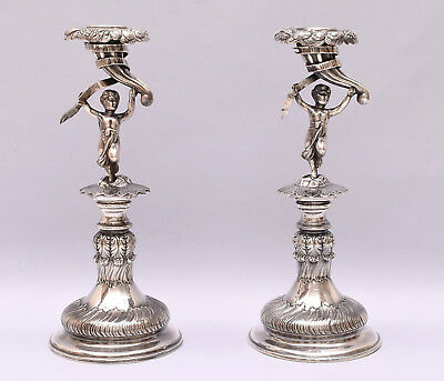 Very Nice Pair Of Solid Silver Candlesticks