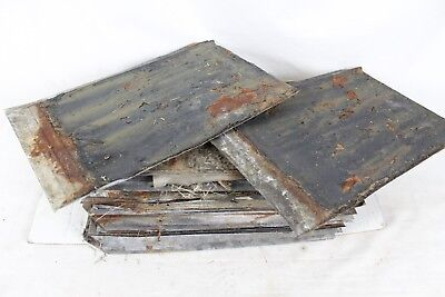 Vintage Antique Roofing Tin Shingle Lot Architectural Salvage Rustic Barn Old