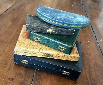 Job Lot Antique Vintage Old Empty Cutlery Cases,Box,Brass Clasps,Spoons,Knives