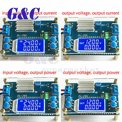 Boost/step-down constant voltage constant current battery charging LCD display