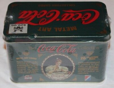 Vintage!  1994 The Coca Cola Collection 20 Metal Art Collectors Cards