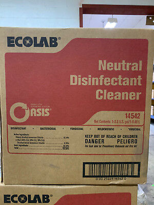 2.5gal Ecolab 14542 Neutral Disinfectant Cleaner Oasis fungicidal virucidal
