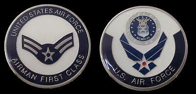 Us Air Force Airman First Class Rank Challenge Coin Military Coins