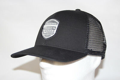 06a0d409cbc Simms Fly Fishing Wader Makers Patch Trucker Hat Mesh Snapback in Black OSFA