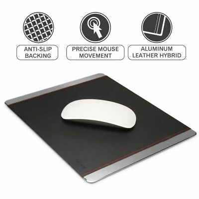 Premium Non-Slip Aluminum Leather Mouse Pad Gaming Mat For Computer Notebook PC