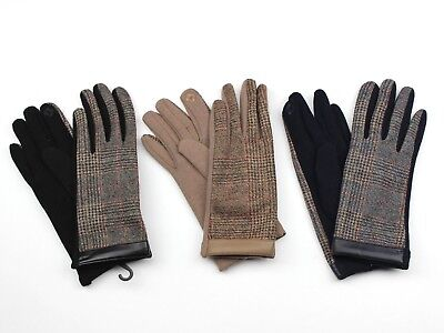 Womens Cellphone Gloves Plaid