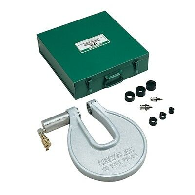 """Greenlee 1731 Portable C-Frame Punch Driver w 1/2"""" - 1"""" Conduit Punches"""