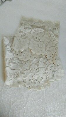 JC Penny French Country Cottage Victorian Lace Curtain 3Pc Set Panel & 2 Valance