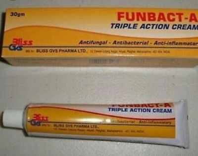 Original Funbact -A Cream. Fast Remedy For All Type Of Skin Inflammation