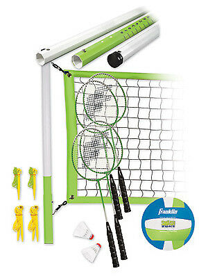FRANKLIN SPORTS INDUSTRY Badminton & Volleyball Set, Intermediate 50601