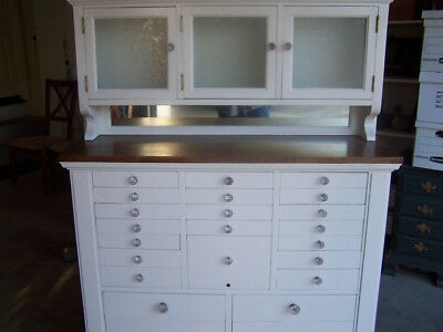 Antique Dental Cabinet 1919 White Lacquer