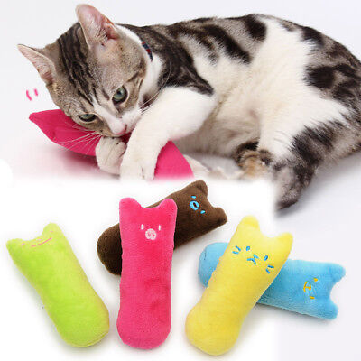 Pets Cat Kitten Teeth Grinding Claws Pillow Scratch Funny Toy Catnip Interactive