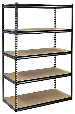 JAKEN CO INC Shelving Unit, 5 Shelves, Heavy-Duty Steel, 24 x 48 x 72-In.