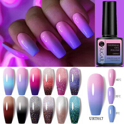 LEMOOC 8ml Nail UV Gel Polish Thermal Magnetic Color Changing Chameleon Nail Art