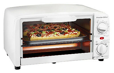 HAMILTON BEACH BRANDS INC Extra Large 4-Slice Toaster Oven/Broiler, White 31116