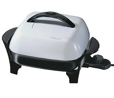 NATIONAL PRESTO IND Electric Skillet With Lid, 11-In. 06620