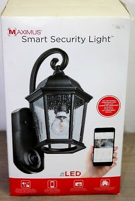 NEW/OB Maximus Smart Home Security Outdoor Light Lantern & Camera
