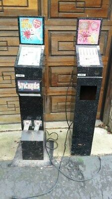 Two Mr. Vend machines Match Maker and Love Meter w/double sticker/card vending