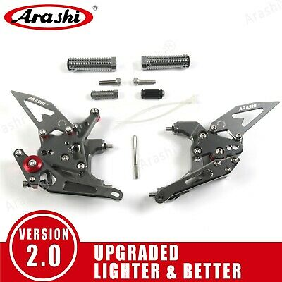 For Ducati 959 Panigale 2016 2017 Adjustable Footrests Rearsets Foot Pegs Gray