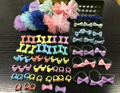 5×Littlest Pet Shop clothes LPS accessories Custom necklaces Bow food bowl Bone