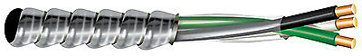 AFC CABLE SYSTEMS Flexible Conduit, Aluminum Metal Clad With Ground, 12/2, 50-Ft