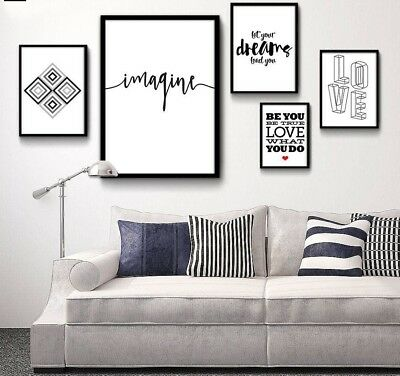 Minimalist Art Canvas Poster Print Abstract Painting Motivational Quote Pictures