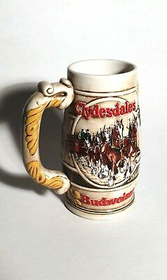 1983 Budweiser - 50th Anniversary Clydesdale's Holiday Beer Stein Mug 1933-1983