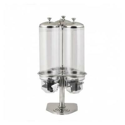 Cereal Dispenser Triple 7 Litre Stainless Steel & Acrylic Commercial Quality NEW