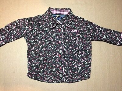 Tommy Hilfiger Baby Girl Shirt Floral Long Sleeve Embroidered 6 - 9 Months