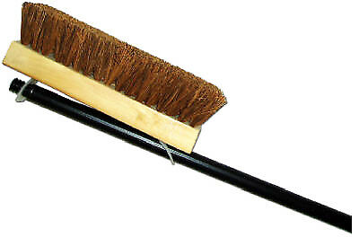ABCO PRODUCTS Deck Brush, Palmyra & Wood, 10-In. With 48-In. Handle 00070-12