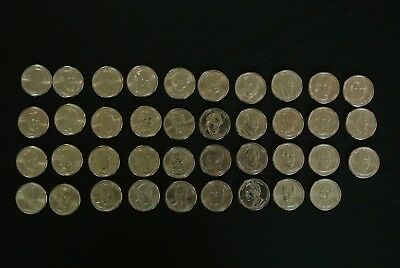 2007-2016 Set of 39 Presidential Dollar Coins Money Denver Mint Rolls President