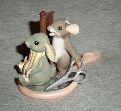 Fitz & Floyd Charming Tails 'You Make Me Look Good' Mice and Mirror Figurine