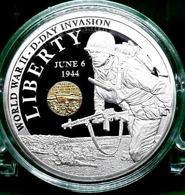 World War Ii – D-Day Invasion Commemorative Coin Proof