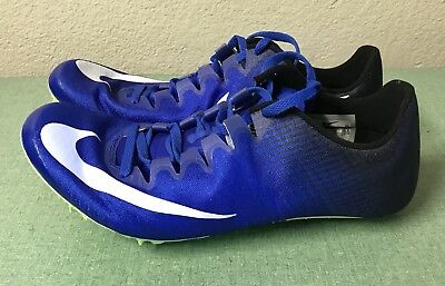 7830d49dd77a Nike Zoom Superfly Elite Blue Black White Mens Sz 8 Track   Field Spikes  NEW!