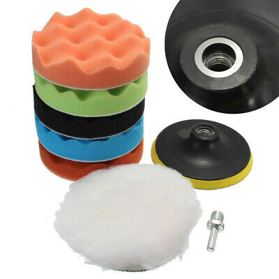 7'' inch Sponge Polishing Waxing Buffing Pads Kit For Auto Car Reliable New