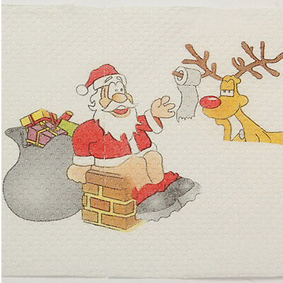 Toilet Paper Santa Claus Merry Xmas Printing Decorative Roll Paper WE9X